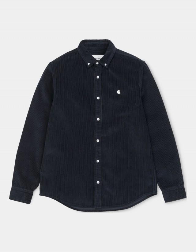 Carhartt Wip L/S Madison Cord Shirt Dark Navy / Wax. - Herrenhemd  - Cover Photo 2