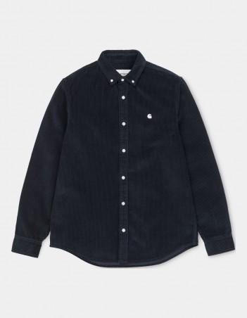 Carhartt WIP L/S Madison Cord Shirt Dark Navy / Wax. - Herrenhemd - Miniature Photo 2
