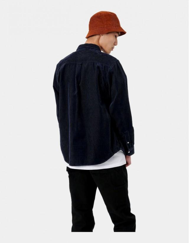 Carhartt Wip L/S Madison Cord Shirt Dark Navy / Wax. - Herrenhemd  - Cover Photo 3