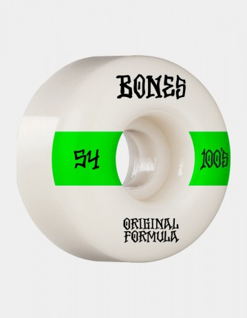 Bones Og Formula 100's 14 54mm v4 Wide - White - Product Photo 1