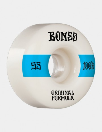 Bones Og Formula 100's 14 53mm v4 Wide - White - Product Photo 1