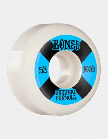 Bones Og Formula 100's 4 53mm v5 Sidecut - White - Product Photo 1