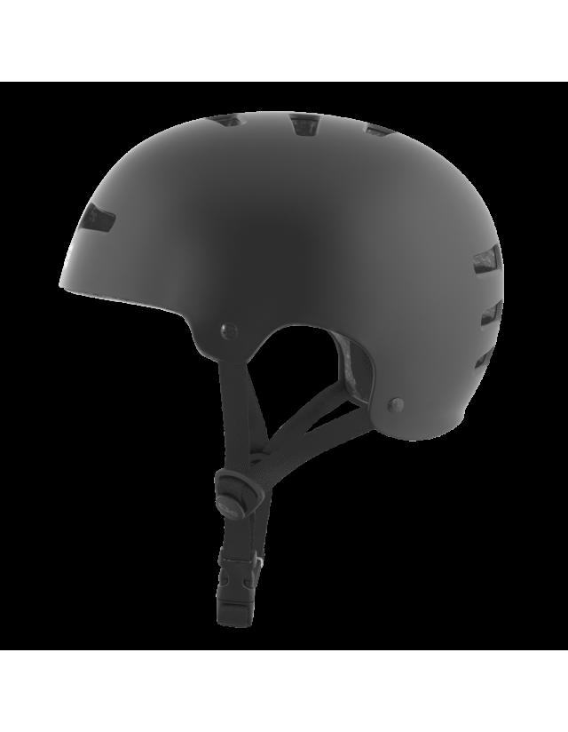 Tsg Evolution Solid Color - Black Satin - Safety Helmet  - Cover Photo 3