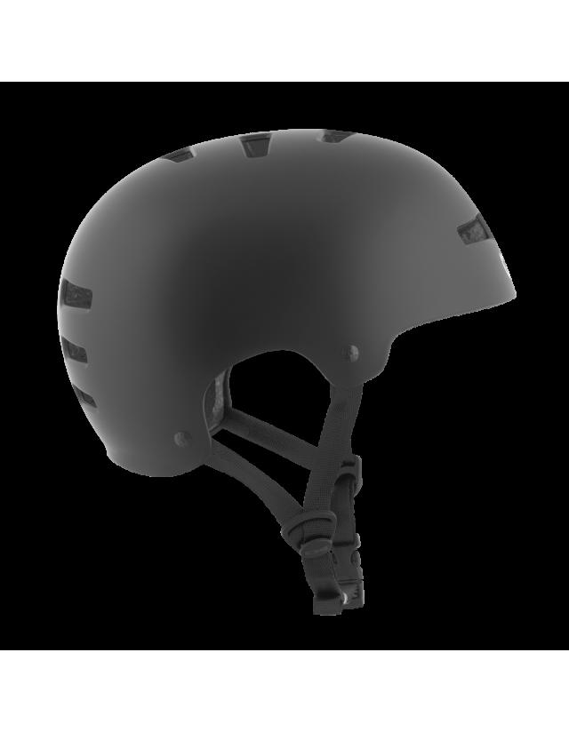 Tsg Evolution Solid Color - Black Satin - Safety Helmet  - Cover Photo 2