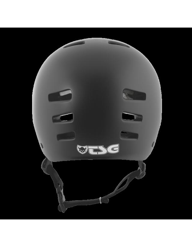 Tsg Evolution Solid Color - Black Satin - Safety Helmet  - Cover Photo 4