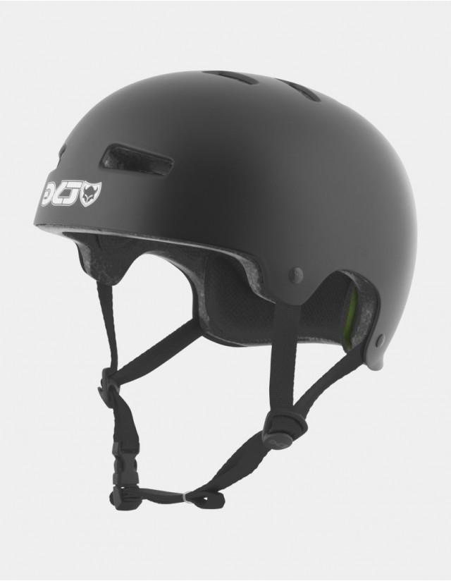 Tsg Evolution Solid Color - Black Satin - Safety Helmet  - Cover Photo 1