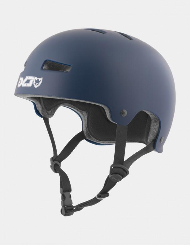 Tsg Evolution Solid Color - Satin Blue - Safety Helmet  - Cover Photo 1