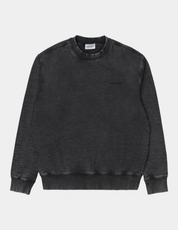 Carhartt Wip Mosby Script Sweatshirt Black. - Product Photo 1