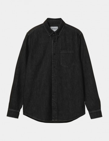 Carhartt Wip L/S Civil Shirt Black Stone Washed. - Product Photo 1