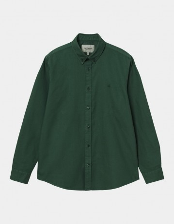 Carhartt Wip L/S Bolton Shirt Treehouse. - Product Photo 1
