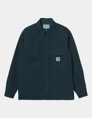 Carhartt Wip Reno Shirt Jac Deep Lagoon Garment Dyed. - Product Photo 1