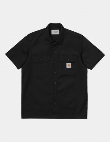 Carhartt Wip S/S Master Shirt Black . - Product Photo 1