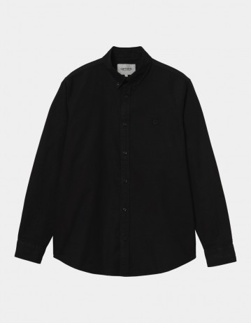 Carhartt Wip L/S Bolton Shirt Black. - Product Photo 1
