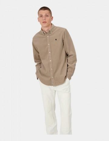 Carhartt Wip L/S Madison Cord Shirt Wall / Black. - Product Photo 1