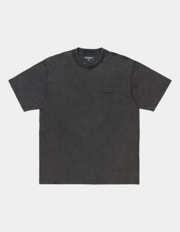 Carhartt Wip S/S Mosby Script T-Shirt Black Acid Wash. - Product Photo 1