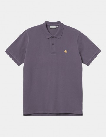 Carhartt Wip S/S Chase Pique Polo Provence / Gold . - Product Photo 1