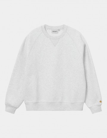 Carhartt Wip W Chase Sweatshirt Ash Heather / Gold . - Product Photo 1