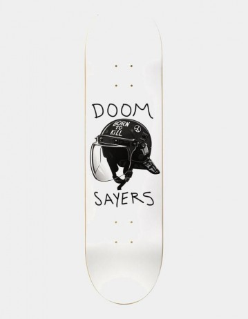 "Doom Sayers Riot Helmet- 8.25"" - White - Product Photo 1"