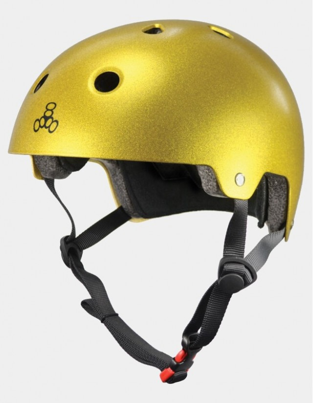 Triple Eight Dual Certified Helmet - Eps Liner Gold. - Safety Helmet  - Cover Photo 2