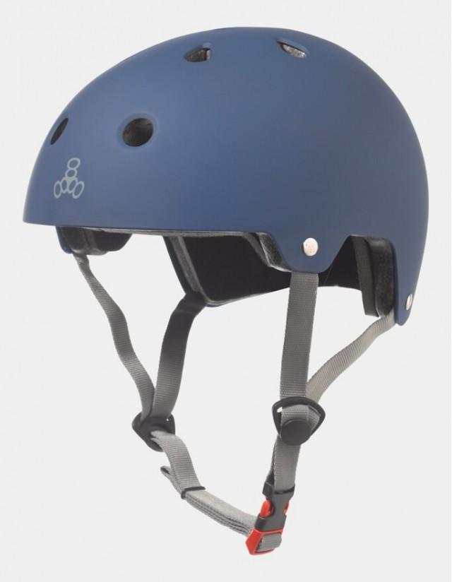 Triple Eight Dual Certified Helmet - Eps Liner Blue. - Safety Helmet  - Cover Photo 3