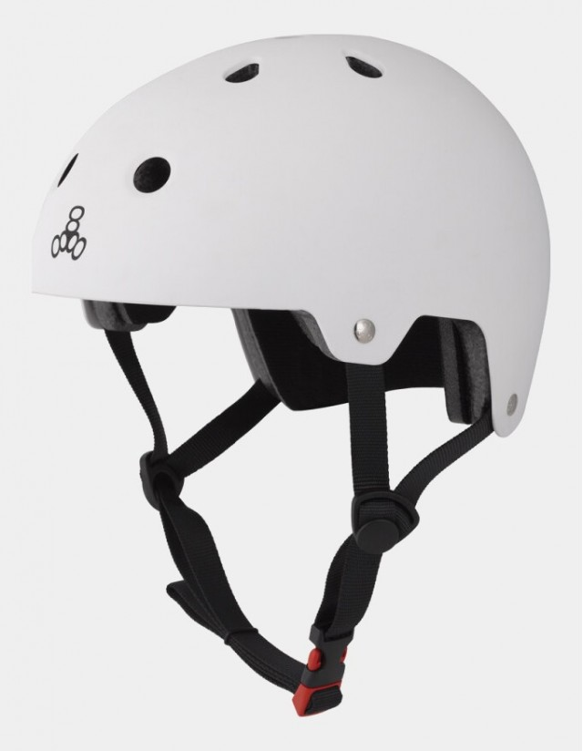 Triple Eight Dual Certified Helmet - Eps Liner White. - Safety Helmet  - Cover Photo 3