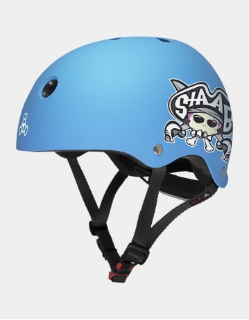 Triple Eight Lil 8 Staab Edition Dual Certified Helmet With Eps Liner - Neon Blue. - Product Photo 1