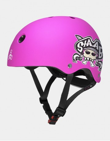 Triple Eight Lil 8 Staab Edition Dual Certified Helmet With Eps Liner - Neon Pink. - Product Photo 1