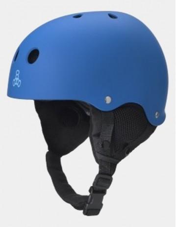 Triple Eight Old School Brainsaver Snowboard Helmet With Audio - Blue. - Product Photo 1
