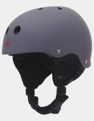 Triple Eight Old School Brainsaver Snowboard Helmet With Audio - Grey. - Product Photo 1