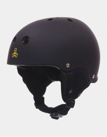 Triple Eight Old School Brainsaver Snowboard Helmet With Audio - Black. - Product Photo 1