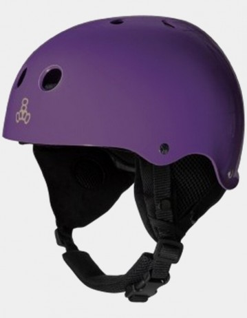 Triple Eight Old School Brainsaver Snowboard Helmet With Audio - Purple. - Product Photo 1