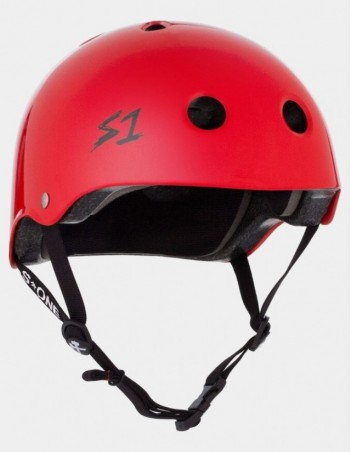 S-One V2 Lifer CPSC Certified Helmet - Bright Red. - Safety Helmet - Miniature Photo 1