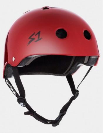 S-One V2 Lifer CPSC Certified Helmet - Scarlet Red. - Safety Helmet - Miniature Photo 1