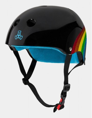 Triple Eight The Certified Sweatsaver Helmet - Rainbow Black. - Product Photo 1