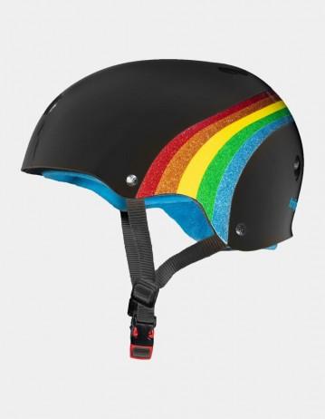 Triple Eight The Certified Sweatsaver Helmet - Rainbow Black. - Product Photo 2