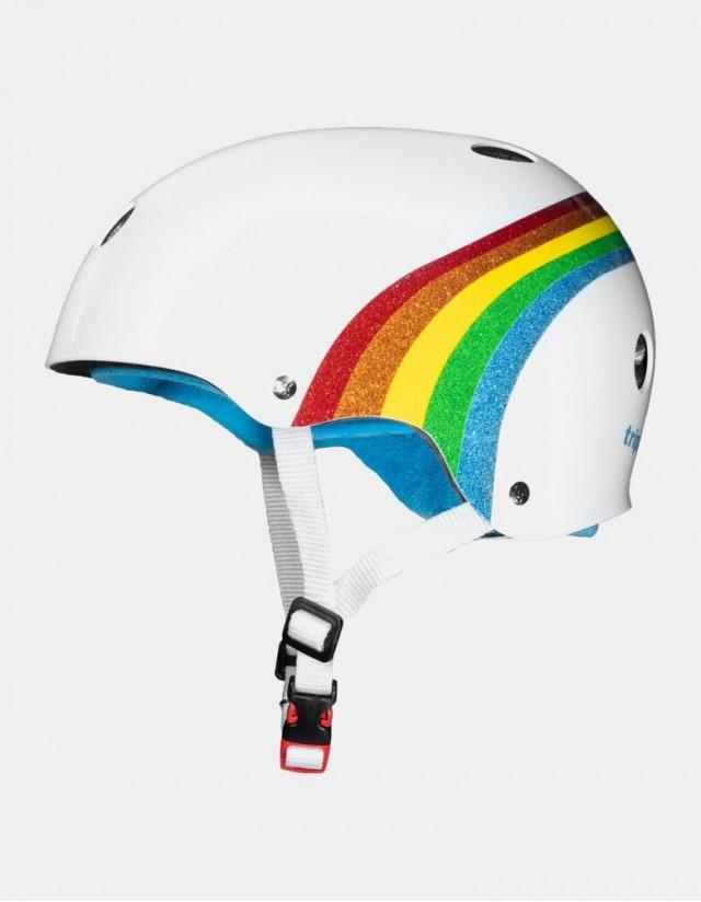 Triple Eight The Certified Sweatsaver Helmet - Rainbow White. - Safety Helmet  - Cover Photo 1