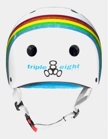 Triple Eight The Certified Sweatsaver Helmet - Rainbow White. - Product Photo 2