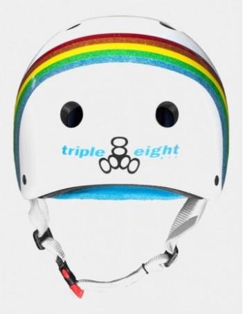 Triple Eight The Certified Sweatsaver Helmet - Rainbow White. - Safety Helmet - Miniature Photo 2