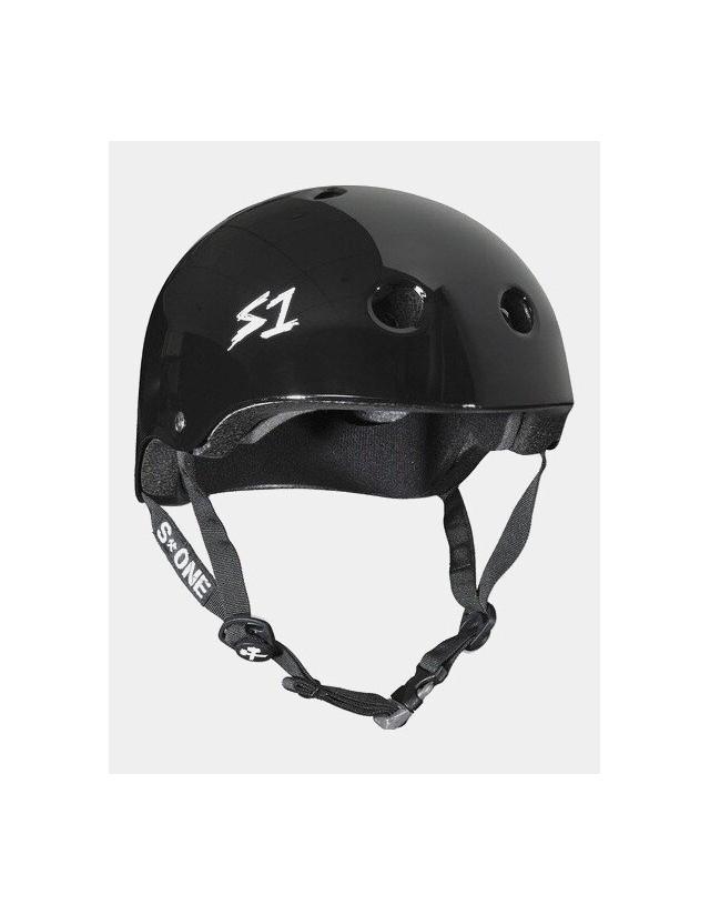 S-One v2 Mega Lifer Helmet - Black Glossy. - Safety Helmet  - Cover Photo 1