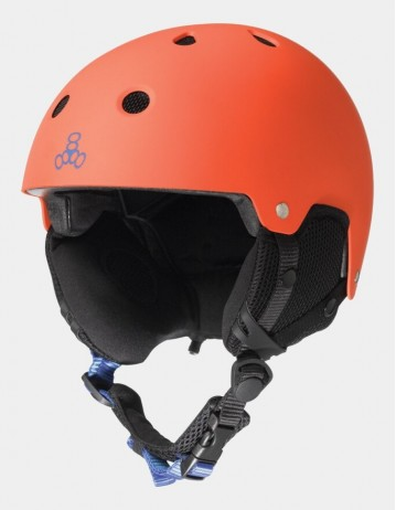 Triple Eight Brainsaver Audio Helmet For Snow - Orange. - Product Photo 1