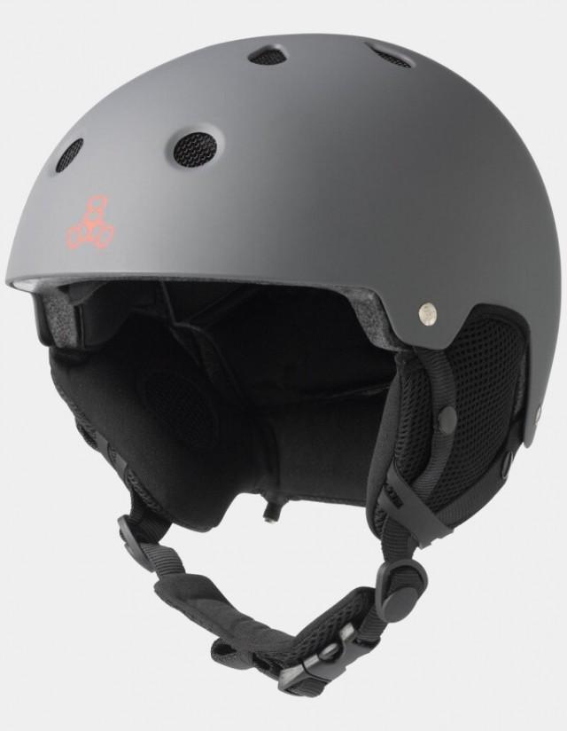Triple Eight Brainsaver Audio Helmet For Snow - Grey. - Safety Helmet  - Cover Photo 1