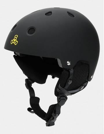 Triple Eight Brainsaver Audio Helmet For Snow - Black. - Product Photo 1