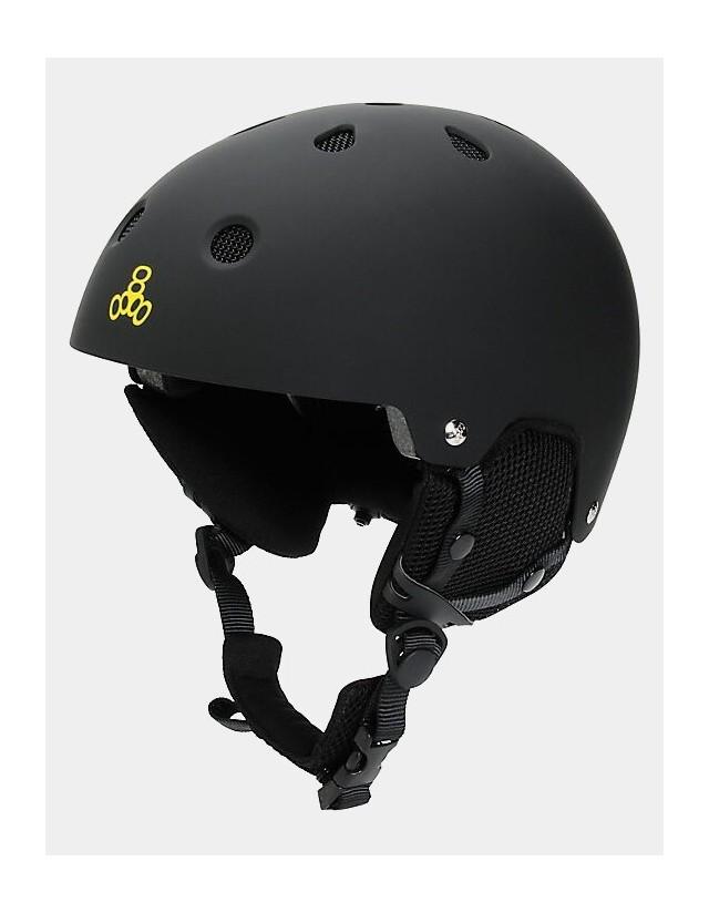 Triple Eight Brainsaver Audio Helmet For Snow - Black. - Safety Helmet  - Cover Photo 1