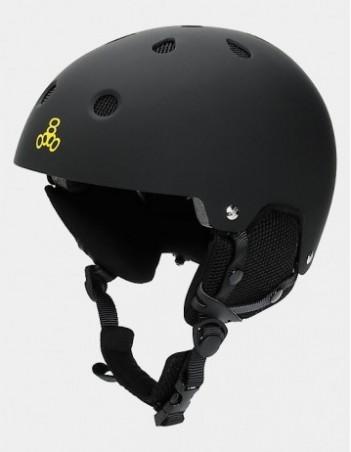Triple Eight Brainsaver Audio Helmet For Snow - Black. - Safety Helmet - Miniature Photo 1