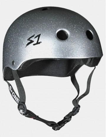 S-One v2 Lifer Cpsc Certified Glitter Helmet Silver Glitter. - Product Photo 1