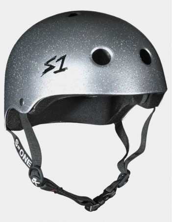 S-One V2 Lifer CPSC Certified Glitter Helmet Silver glitter. - Safety Helmet - Miniature Photo 1
