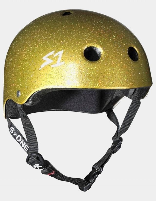 S-One v2 Lifer Cpsc Certified Glitter Helmet Gold Glitter. - Safety Helmet  - Cover Photo 1