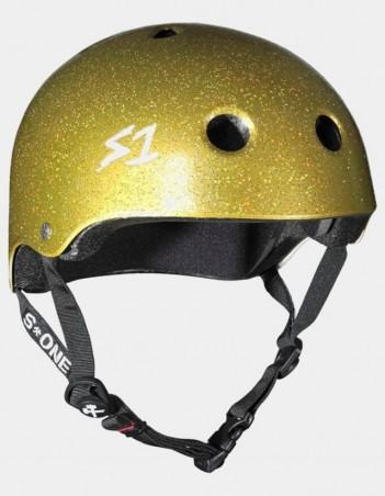 S-One V2 Lifer CPSC Certified Glitter Helmet Gold Glitter. - Safety Helmet - Miniature Photo 1