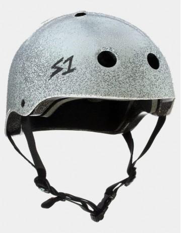 S-One v2 Lifer Cpsc Certified Glitter Helmet White Metal Flake. - Product Photo 1