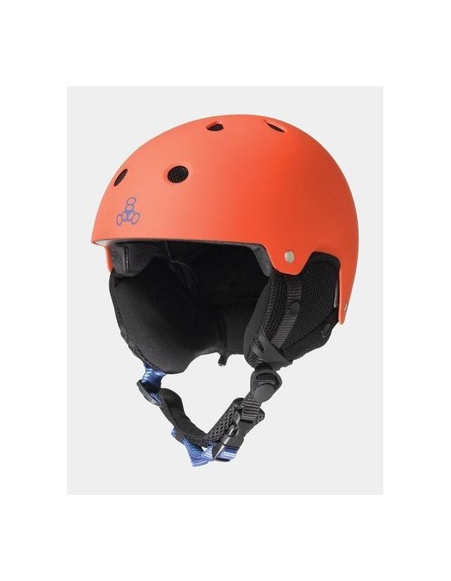Triple Eight Brainsaver Snow With Audio Orange. - Safety Helmet  - Cover Photo 1